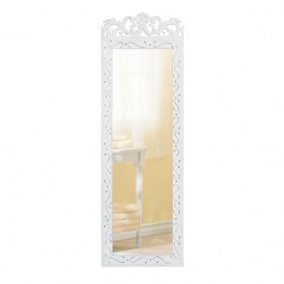 Romantic Elegant White Wall Mirror 10033666