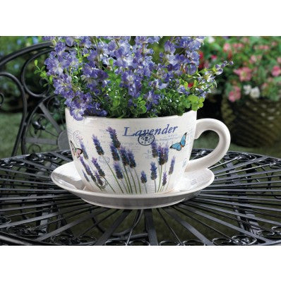 Lavendar Fields Forever Teacup Planter 10016209 - House Home & Office - Fits My Budget