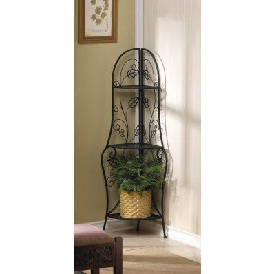Autumn Leaves Corner Bakers Rack 10015469 Free Shipping - House Home & Office - Fits My Budget