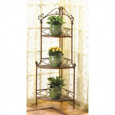 Rustic Corner Baker's Rack 10012517 Free Shipping - House Home & Office - Fits My Budget