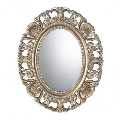 Gilded Oval Wall Mirror 10017055 Free Shipping - House Home & Office - Fits My Budget