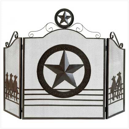 Texas Lone Star Metal Fireplace Screen 10012569 Free Shipping - House Home & Office - Fits My Budget