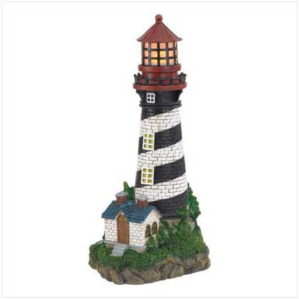 Solar Powered Garden Lighthouse 10035719 Free Shipping - House Home & Office - Fits My Budget