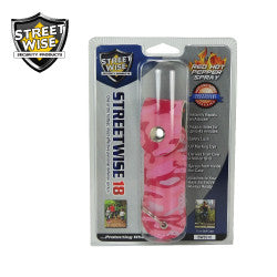 Streetwise 18 Pepper Spray 1/2 oz Soft Case Pink Camo SW3PC18 - Safety & Security - Fits My Budget