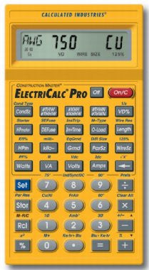 Calculated Industries 5065 ElectriCalc Pro Electrical Code Calculator Free Shipping - Electronics - Fits My Budget