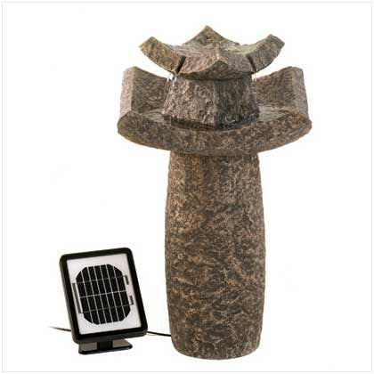 Asian Temple Garden Water Fountain Solar 10012844 Free Shipping - House Home & Office - Fits My Budget