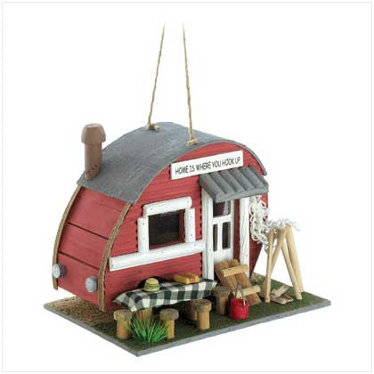 Vintage Camping Trailer Birdhouse 10012503 - House Home & Office - Fits My Budget