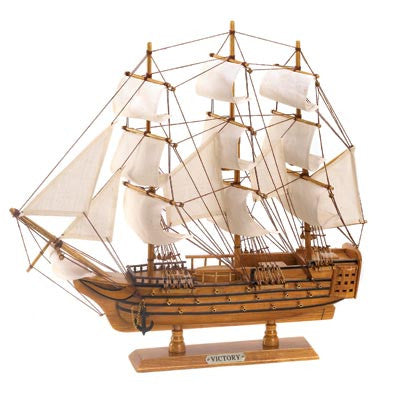 HMS Victory Wood and Cotton Canvas Model Ship 10001296 Free Shipping - House Home & Office - Fits My Budget