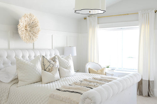 White juju hat bedroom
