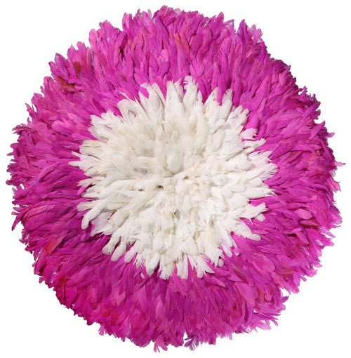 juju hat juju hats Carnation Fuchsia and White african juju hat wall decor feather headdress for sale cameroon wall hanging bamileke hat