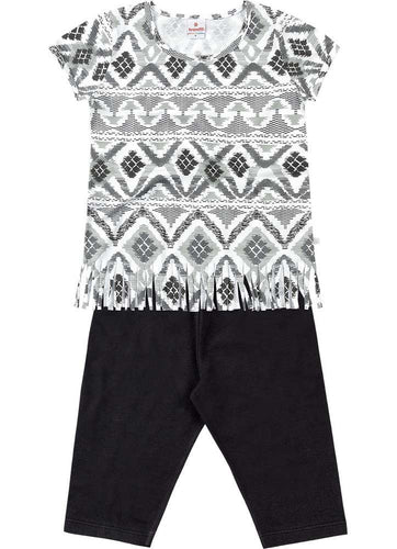 Fringe Hem Top & Shorts Set
