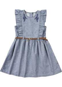 Chambray Belted Dress