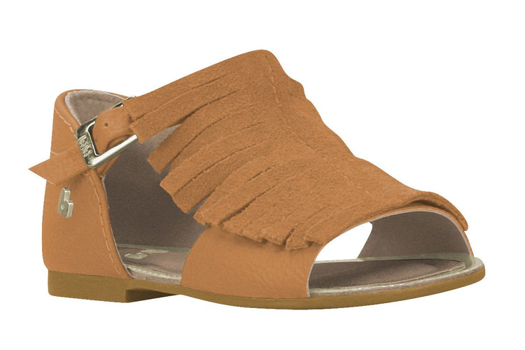 Girls Fringe Sandals in Caramel (Sizes 5.5 Toddler - 10.5 Little Kid)