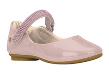Girls Crystal Embellished-Strap Mary Jane in Patent Pink (Sizes 9.5 Little Kid - 2.5 Big Kid)