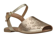 "Girls ""Sunshine"" Perforated Sandal in Gold (Sizes 11.5 Little Kid - 6.5 Big Kid)"
