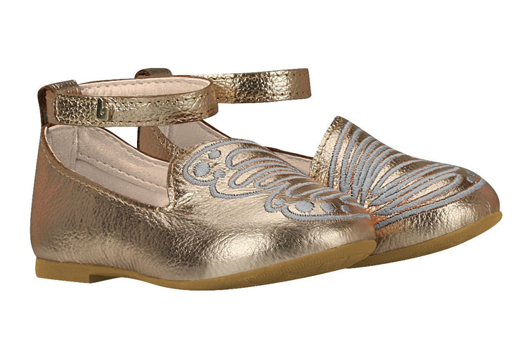 Girls Butterfly Wings Mary Jane in Gold (Sizes 5.5 Toddler - 10.5 Little Kid)