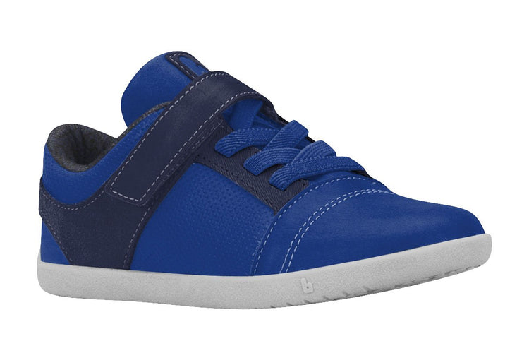 Boys Leather Shoes with Velcro Strap in Blue (Sizes 11.5 Little Kid - 6.5 Big Kid)