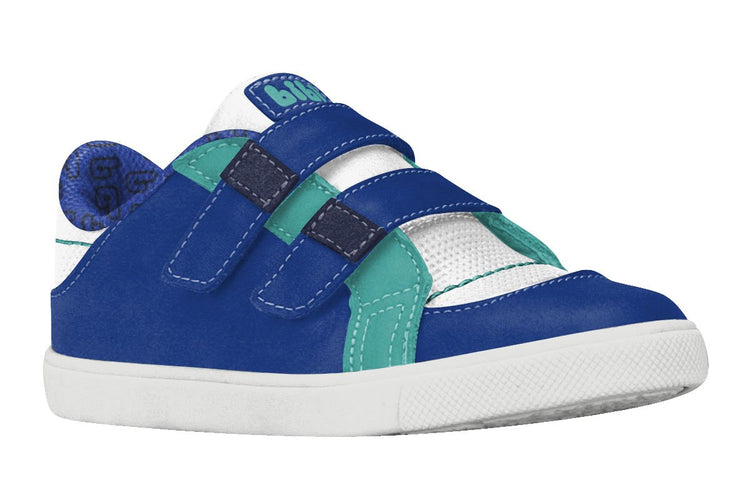 Boys Leather Shoes with Double Velcro Strap (Sizes 7 Toddler - 10.5 Little Kid)
