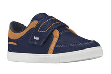 Boys Leather Shoes in Navy and Caramel (Sizes 7 Toddler - 10.5 Little Kid)