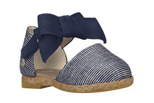 "Girls ""Joy"" Espadrilles Sandal Striped Blue (Sizes 5.5 Toddler - 10.5 Little Kid)"