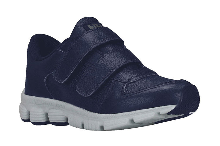 Kids' Leather Sneakers in Navy (Sizes 11.5 Little Kid - 5 Big Kid)