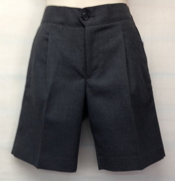 Boys Shorts Charcoal  Elastic Back- HCC