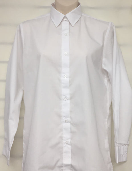 White Long Sleeve Blouse - SD
