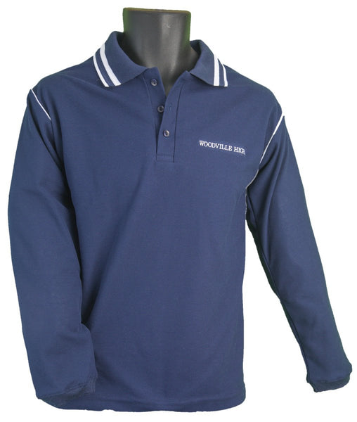 Long Sleeve Navy Polo Shirt – WH