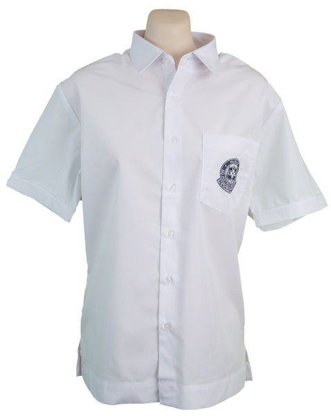Short Sleeve White Shirt with Logo – WH