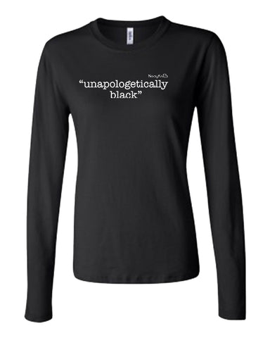 "Melanin, Black, African American.  However, you want to say it, you are black and proud.  Say it loudly in our ""unapologetically black"" Tee."
