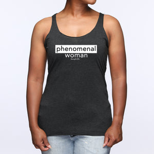 Phenomenal Woman Tri-Blend Racerback Tank