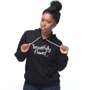 "'beautifully flawed"" Hoodie - Noisy Knits T-shirt Company"