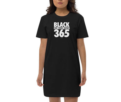 Black 365 Organic Cotton T-Shirt Dress