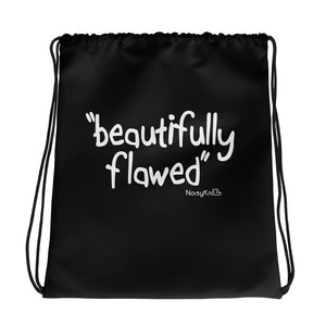 Beautifully Flawed Drawstring Bag - Noisy Knits T-shirt Company