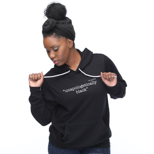 """unapologetically black"" Hoodie - Noisy Knits T-shirt Company"
