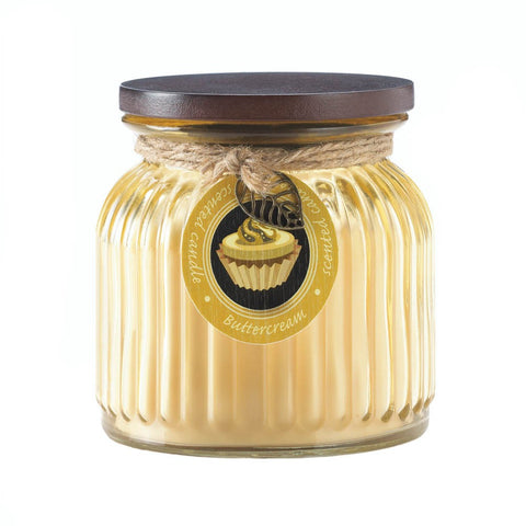 Butter Cream Ribbed Jar Candle
