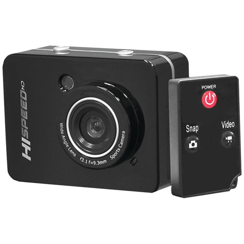 'Pyle-sport 12.0 Megapixel 1080p Action Camera With 2.4'''' Touchscreen (black)'