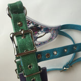 Clear Glitter Strap-On Harness Classic
