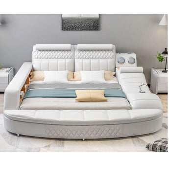 Leather Bed With Storage Bed End Bench Sofa Massage