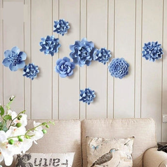 Handmade 1 PCS Ceramic Flower Wall Ornaments Pendant