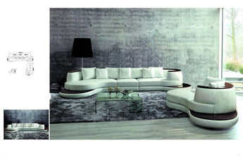 Luxury Sofa Elegant Contemporary Sectional With Single Chaise - My Aashis