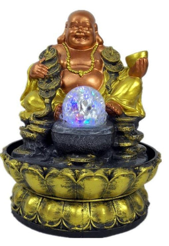 Auspicious Buddha Tabletop Water Fountain - My Aashis