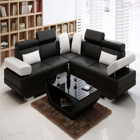 Exclusive Cozy Modern Friendly Leather Sectional Sofa Set - My Aashis