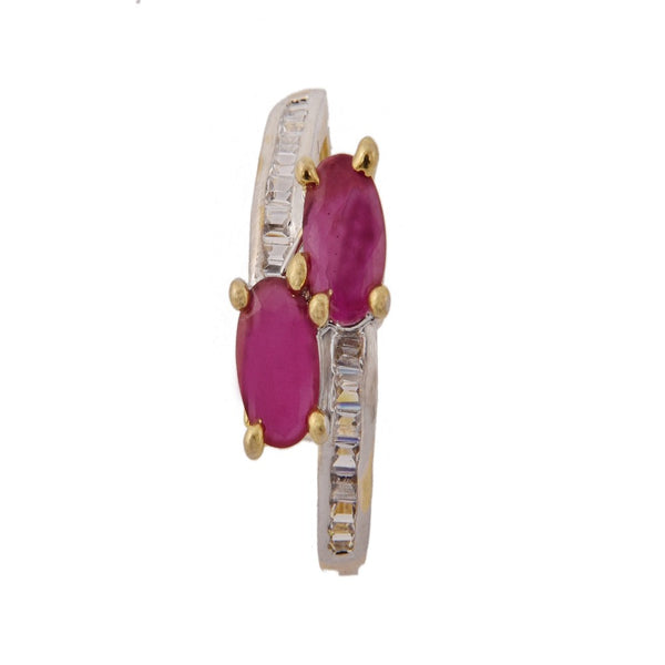 Adjustable Beautiful Ruby Zircon Ring