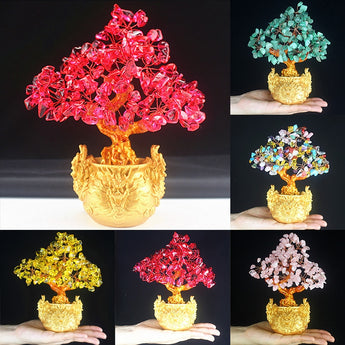 Crystal Lucky Flower  Vase - My Aashis