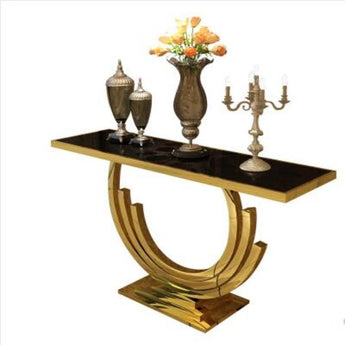 Attractive Golden Black Console Table - My Aashis