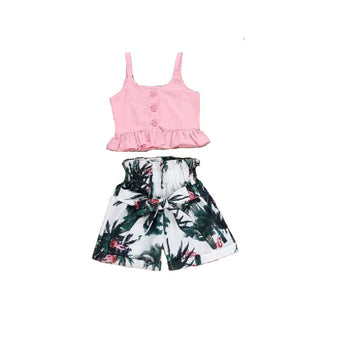 Toddler Girl Vest Crop Tops And Shorts - My Aashis