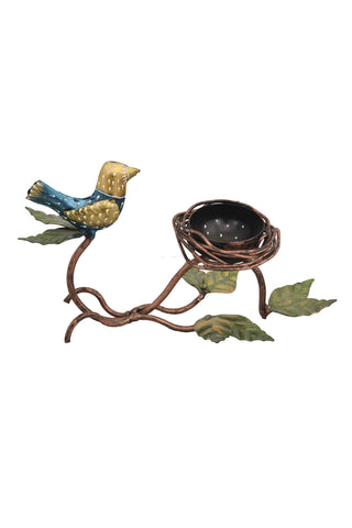 Bird Nest Tea Light Candle Holder Iron