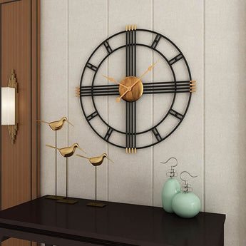 Silent Unique Metal Round Wall Clock - My Aashis