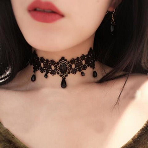 Antique Fashion Choker  Collar Necklace